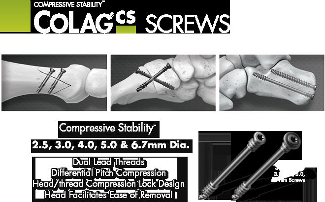 Lower Extremity compression screws
